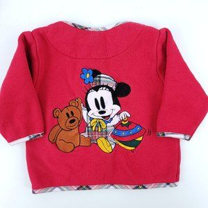 90s Disney Minnie Mouse 6M Zip Sweatshirt Cardigan